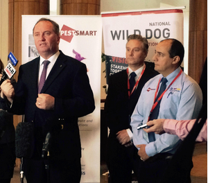 Minister for Agriculture, Barnaby Joyce, launches the PestSmart Connect website - a handy toolkit of pest animal management information for farmers and land managers.